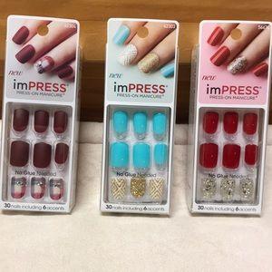 3 pack bundle KISS press-on gel manicures